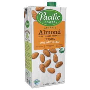 Pacific Organic Unsweetened  Almond Milk (12/32 oz)