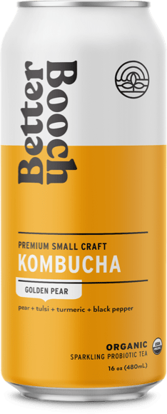 Better Booch Cans – Golden Pear cs12 16 oz