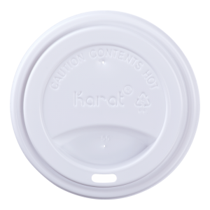 Karat 10-24 oz. Sipper Dome Lid – White (90mm) – 1,000 ct
